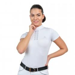 Riding Show Shirt SILVER POP - Short Sleeve, Technical Equestrian Apparel